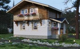 Комбинированный дом 041